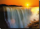 Victoria Falls - Zimbabwe Stretched Canvas Print by Roger De La Harpe