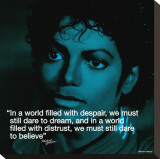 Michael Jackson: Believe Stretched Canvas Print