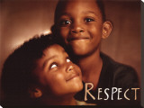 Respect Stretched Canvas Print