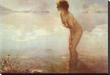 September Morn Stretched Canvas Print by Paul Chabas