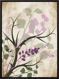 Lavender and Sage Florish Framed Canvas Print by Jennifer Pugh