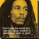 Bob Marley: Wisdom Stretched Canvas Print