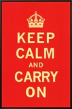 Keep Calm and Carry On Framed Canvas Print