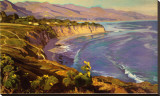 Point Dume Cove Stretched Canvas Print by John Comer