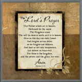 The Lord's Prayer Framed Canvas Print by Jennifer Pugh