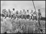 Lunch Atop a Skyscraper, c.1932 Framed Canvas Print by Charles C. Ebbets