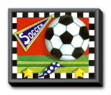 Soccer Framed Canvas Print by Kathy Middlebrook