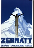 Zermatt Stretched Canvas Print by Pierre Kramer