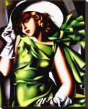 Jeune Fille Vert Stretched Canvas Print by Tamara de Lempicka