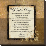 The Lord's Prayer Stretched Canvas Print by Jennifer Pugh