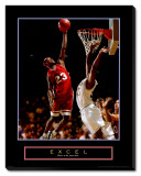 Excel: Basketball Stretched Canvas Print