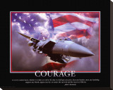 Patriotic Courage Stretched Canvas Print