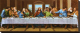 Last Supper Stretched Canvas Print by  Tobey
