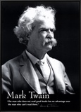 Mark Twain Framed Canvas Print
