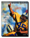 Work Hard Stretched Canvas Print