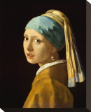 Girl with a Pearl Earring Stretched Canvas Print