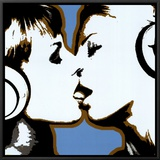 The Kiss Framed Canvas Print by  Steez