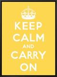 Mantenha a Calma e Siga em Frente Impressão em tela emoldurada