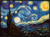 Starry Night, c.1889 Framed Canvas Print