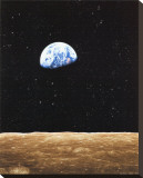 Earth Rise from Moon Stretched Canvas Print