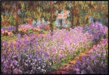 The Artist&#39;s Garden at Giverny, c.1900 Framed Canvas Print by Claude Monet