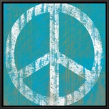 Blue Peace Framed Canvas Print by Louise Carey