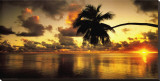 Aitutaki Lagoon, Cook Islands Stretched Canvas Print by Peter Hendrie