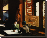 Chop Suey Stretched Canvas Print by Edward Hopper