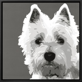 West Highland Terrier Framed Canvas Print by Emily Burrowes
