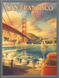 San Francisco Framed Canvas Print by Kerne Erickson