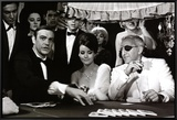 James Bond at the Casino, Thunderball Framed Canvas Print