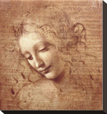 Female Head (La Scapigliata), c.1508 Stretched Canvas Print by Leonardo da Vinci