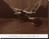 Inter-Island Airways, Sikorsky S-43, Kaunakakai, Molokai, Hawaii, 1937 Stretched Canvas Print