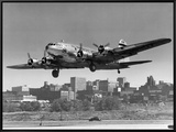 Boeing B-307 on Final Approach, 1940 Framed Canvas Print