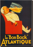 "Le ""Bon Bock"" Atlantique Stretched Canvas Print"