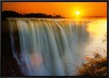 Victoria Falls - Zimbabwe Framed Canvas Print by Roger De La Harpe
