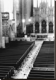 Church Aisle Stretched Canvas Print by Scott Mutter