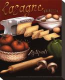 Lasagna Stretched Canvas Print by Daphne Brissonnet