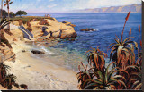 La Jolla Cove Stretched Canvas Print by John Comer