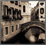 Ponti di Venezia II Framed Canvas Print by Alan Blaustein