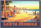 Visit Santa Monica Stretched Canvas Print by Kerne Erickson