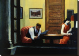 Room in New York Stretched Canvas Print by Edward Hopper