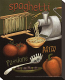 Spaghetti Stretched Canvas Print by Daphne Brissonnet