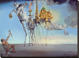 The Temptation of St. Anthony, c.1946 Stretched Canvas Print by Salvador Dalí