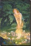 Tarde em meados do verão, cerca de 1908 Impressão em tela esticada por Edward Robert Hughes