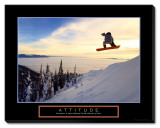 Attitude: Snow Boarder Stretched Canvas Print
