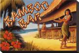 Bamboo Bar, Hawaii Stretched Canvas Print