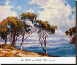 San Diego from Point Loma Stretched Canvas Print by John Comer