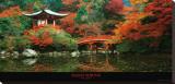 Santuario de Daigo, Kyoto (Japón) Reproducción en lienzo de la lámina por Umon Fukushima