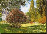 Het park bij Monceau Kunstdruk op gespannen doek van Claude Monet
